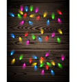 Color lights on wooden background vector image vector image