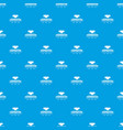 cooperation pattern seamless blue vector image vector image