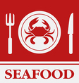 Crab Fork and Knife icon restaurant sign vector image vector image