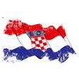 Croatia Flag Grunge vector image vector image