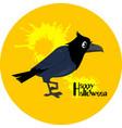 crow halloween vector image vector image
