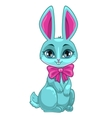Cute cartoon sitting bunny vector image
