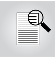 Document With Magnifying Glass Icon vector image vector image