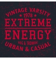 Extreme energy vintage stamp vector image vector image