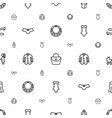 female icons pattern seamless white background vector image vector image