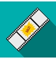 Film strip with Sale text icon flat style vector image vector image