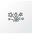 fireworks icon line symbol premium quality vector image vector image