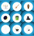 flat icon celebrate set of monster tomb vector image vector image