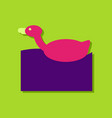 flat icon design kids duck automatic in sticker vector image vector image