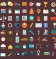 flat icons design modern big set various vector image vector image