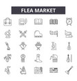 flea market line icons for web and mobile design vector image