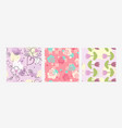flowers in pastel colors on background vector image vector image