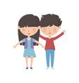 girl and boy cartoon design