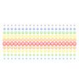 glad smiley shape halftone spectral grid vector image