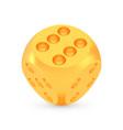 golden luck dice award concept shiny realistic vector image vector image