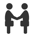 Greeting etiquette business situation icon vector image vector image