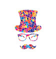 hipster accessories design stained glass vector image vector image