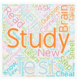 How To Study For A Test text background wordcloud vector image vector image
