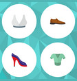 icon flat garment set of man shoe blouse sport vector image vector image