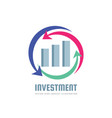 investment - business finance logo template vector image