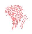 jesus face sketch drawing vector image