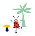 little playful girl character wearing costume vector image