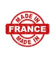 made in france red stamp on white background vector image vector image