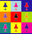mannequin with dress sign pop-art style vector image vector image