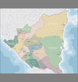 map of nicaragua vector image vector image