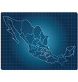 mexico dark map vector image