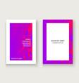 minimal cover set design neon halftone pink vector image