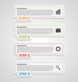Modern paper infographic options banner Design vector image vector image