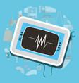 monitoring cardiology machine medical supply vector image vector image