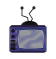 old television media pop art colors vector image vector image