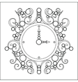 old vintage clock on white background vector image vector image