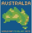pixel art style of continent australia physical vector image