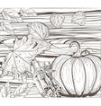 pumpkin autumn vintage card