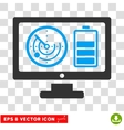 Radar Battery Control Monitor Eps Icon vector image vector image