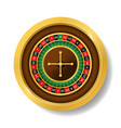 realistic detailed 3d round casino roulette vector image vector image