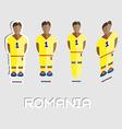 Romania Soccer Team Sportswear Template vector image vector image