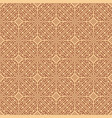 seamless asian brown weave pattern in pixel style vector image vector image