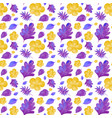 seamless background design with purple and yellow vector image vector image