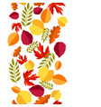 seamless floral pattern with stylized autumn vector image