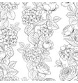 seamless pattern of rose flower for fabric design vector image