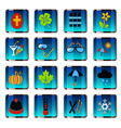 seasons icon set vector image vector image