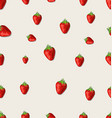 strawberry fruit on a white background seamless vector image vector image