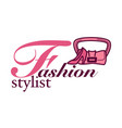 style consultant poster with elegant stylish vector image vector image