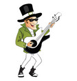 stylish man playing guitar vector image