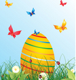 summer egg vector image vector image