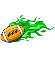 super fast rugby ball that has a red color vector image vector image
